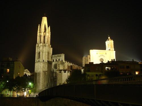 Girona - Catedral i Església Sant Feliu de nit