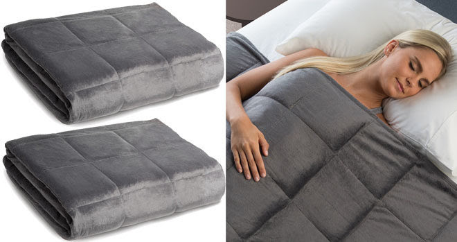 Sharper Image Weighted Blanket Just 7999 Free Shipping