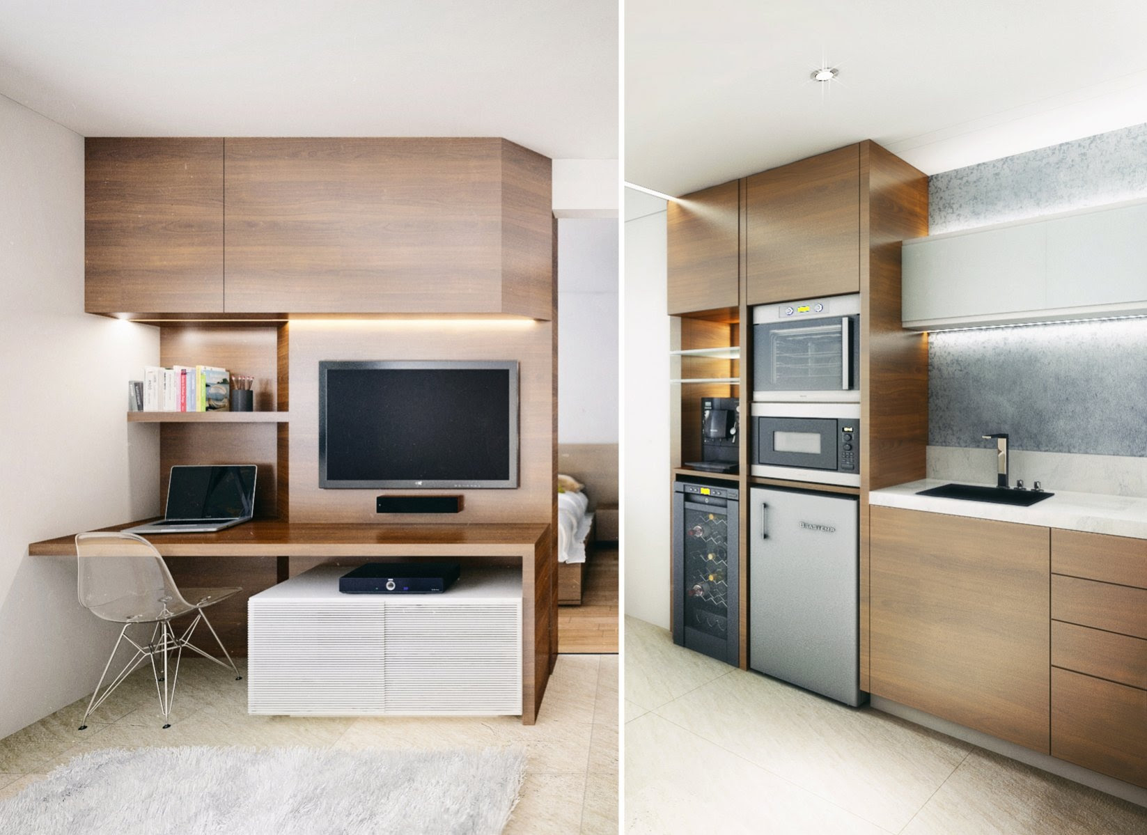 Home Architec Ideas Very Small Open Plan Kitchen Living Room Ideas