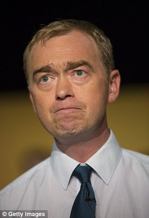 Liberal Democrat leader Tim Farron described the move as 'utterly shameless' and said the former PM 'should be ashamed'