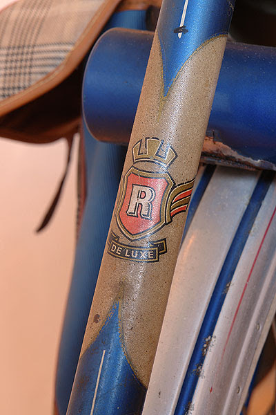 Seat tube label with tool kit in background