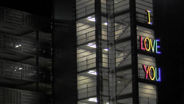 A new light-based artwork has been installed on the exterior of the Ronwood Ave car park in Manukau.