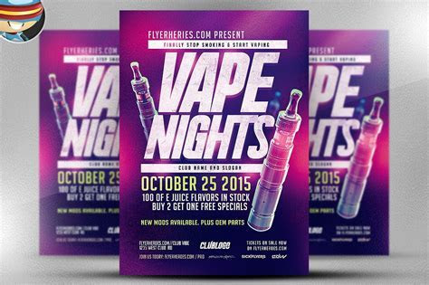 Vape Nights Flyer Template ~ Flyer Templates ~ Creative Market
