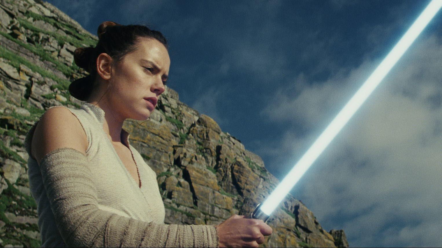 "Daisy Ridley as Rey in ""Star Wars: The Last Jedi,"" which is on track to exceed $1 billion in global ticket sales."