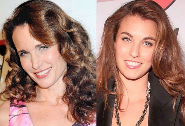 Worth it: L'Oreal ad star Andie MacDowell and Rainey Qualley