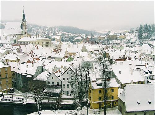 Krumlov panorama by Alina Zanina