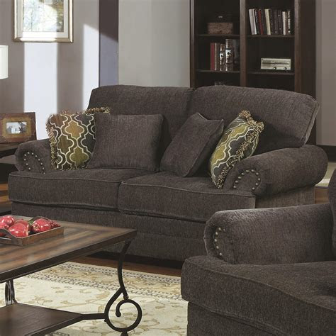 coaster colton traditional love seat  rolled arms