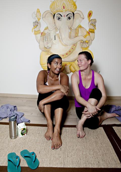 TETTE PARTNERE: Resh Gupta-Erichsen og Charlotte har felles visjon.