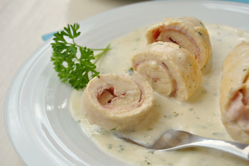 Ham and Cheese Chicken Rolls