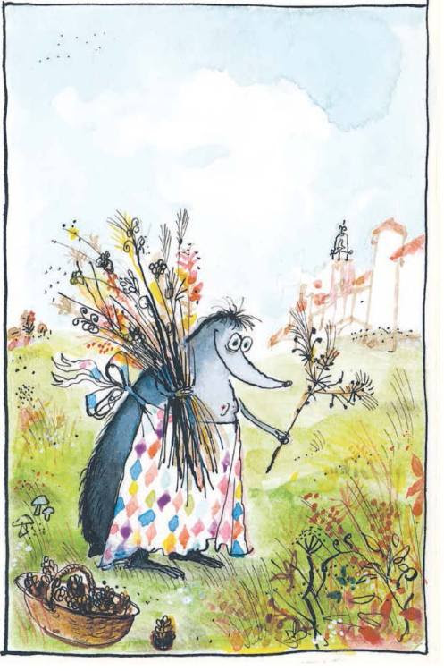 #4 of our top 5 illustrations from Les Tres Riches Heures de Mrs Mole by Ronald Searle