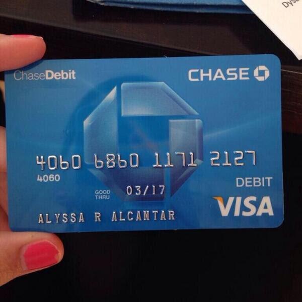 Finally got my debit card! love the blue - scoopnest.com