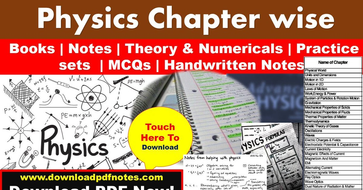 PDF*] Physics chapterwise Notes Study Material, formulas