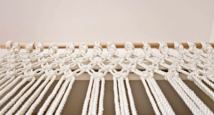 DIY cortina de macramé
