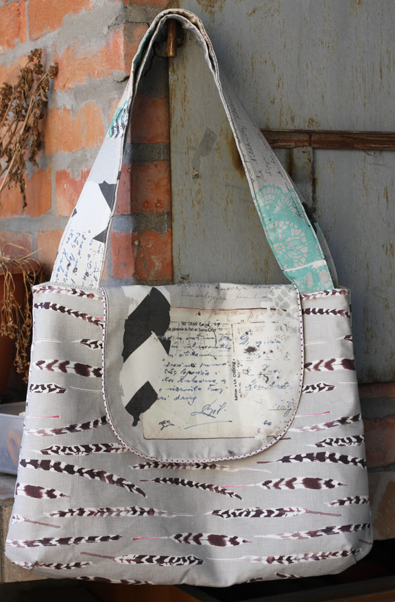Love letter and feathers bag