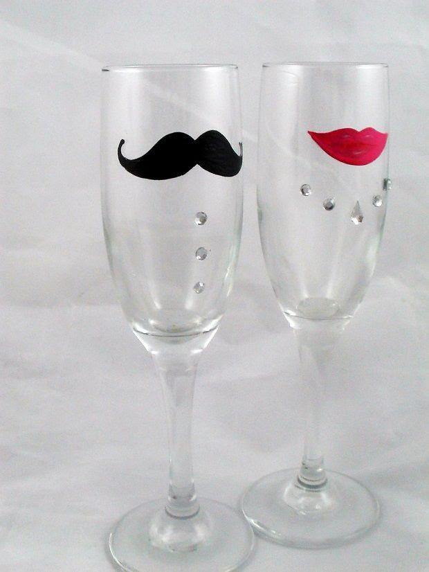 DIY Toasting Wedding Glasses