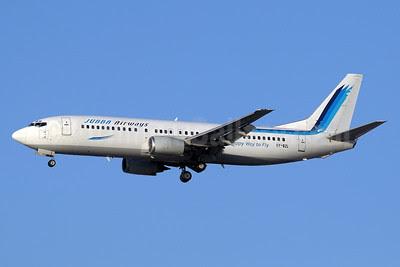 Jubba Airways Boeing 737-4B7 5Y-BZL (msn 24550) DXB (Paul Denton). Image: 911370.