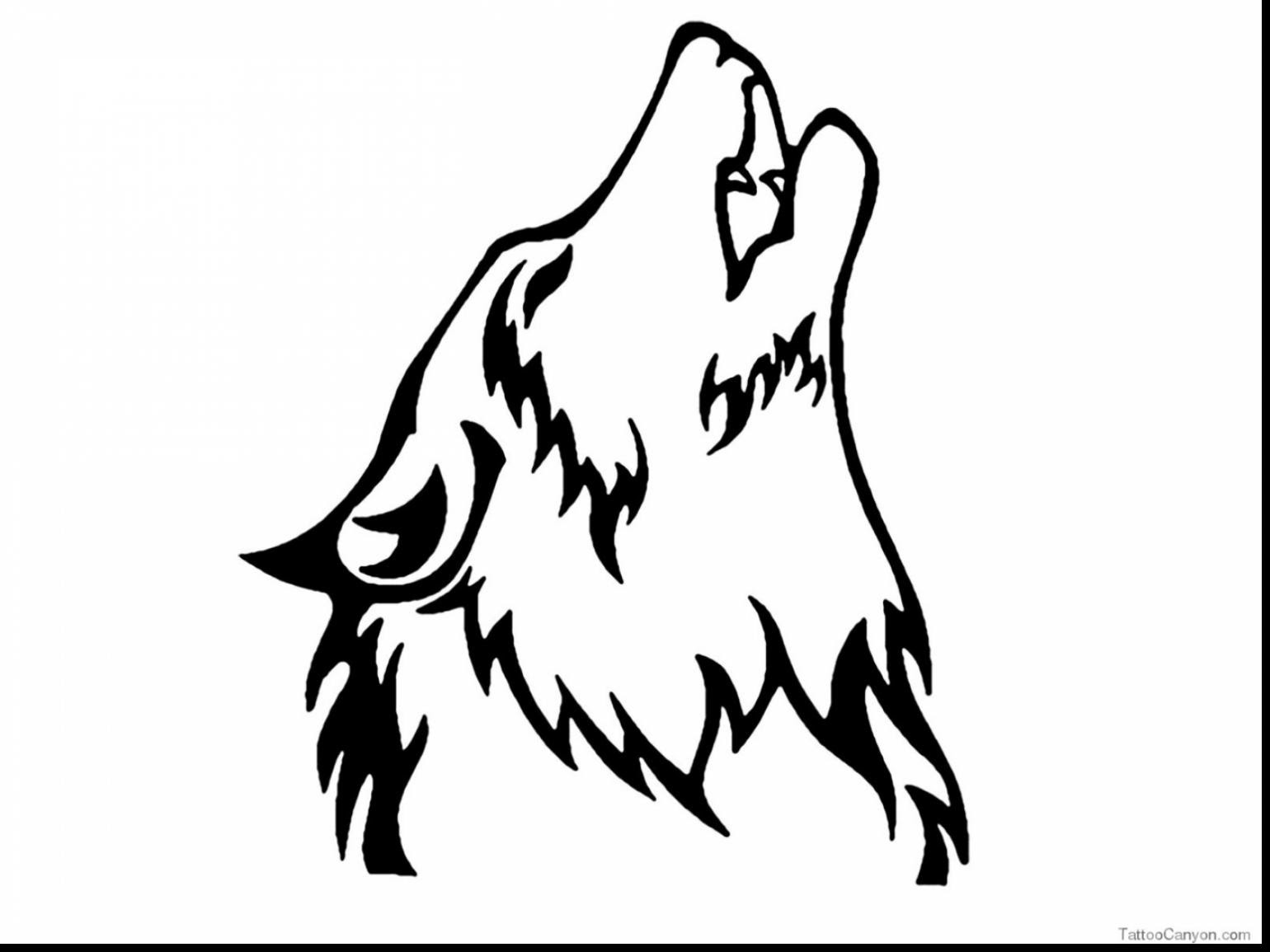 Wolf Howl Drawing at GetDrawings | Free download