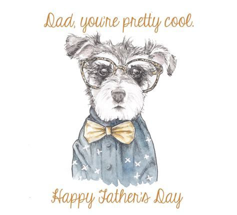 Hipster Dog Dad! Free Happy Father's Day eCards, Greeting