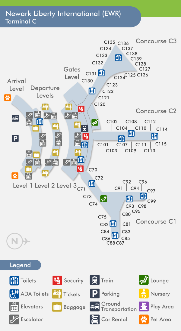 Ewr Terminal C Map Newark Airport Terminal C Map | Gadgets 2018