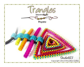 Peyote StitchTriangle Pendant & Earrings Beading Tutorial TRANGLES - Studio183