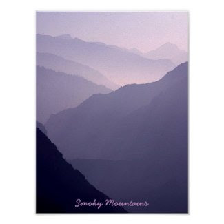 Smoky Mountain Haze Poster print