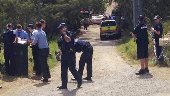 Police and emergency services on the scene of the shooting. Picture: Heidi Braithwaite.