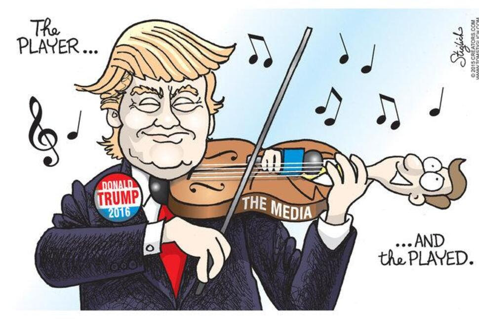 Image result for trump-media cartoons