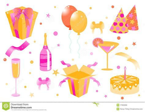 Funny Birthday Icons Royalty Free Stock Image   Image