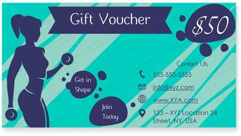 Get in Shape Gift Certificate Template   Gym Certificate