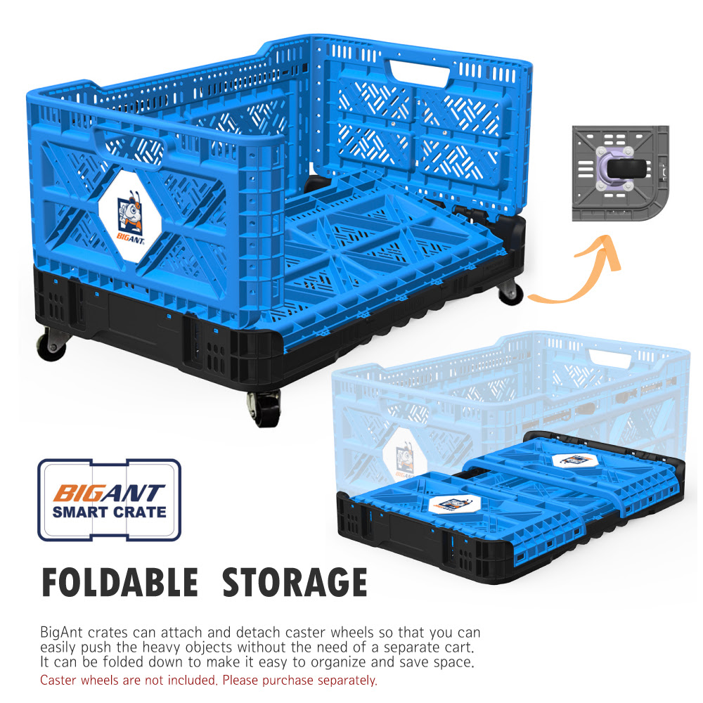 BIGANT Heavy Duty Collapsible & Stackable Plastic Milk ...