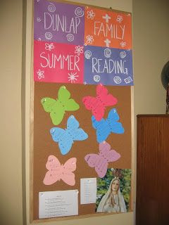 Family Summer Reading - I've always loved the way this bulletin board turned out :)
