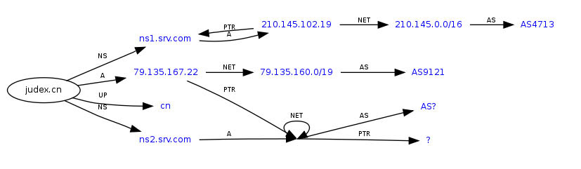 A twisted DNS topology
