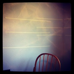masking tape on the wall. isn't this how everyone figures out where their shelves should go?
