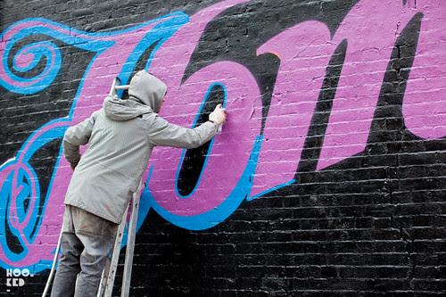 Street Artist Ben Eine's London Mural for Charity Shelter