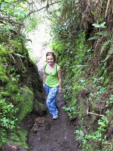 Blue Jungle Pants, Hike to the White Cross, Baños, Ecuador