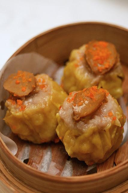 Steamed abalone siew mai
