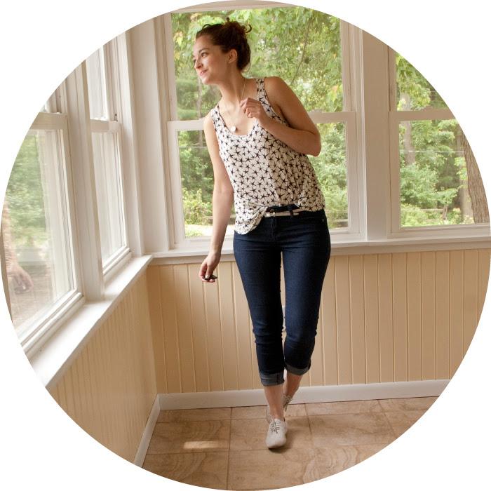 stars tank jeans j.crew oxfords thirtyforthirty challenge blog dashdotdotty dash dot dotty