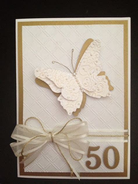25  best ideas about 50th Anniversary Cards on Pinterest