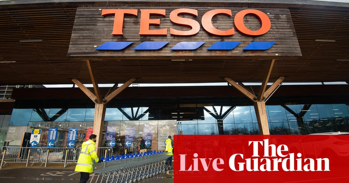 Tesco posts record Christmas sales, but lockdowns hurt Primark – business live