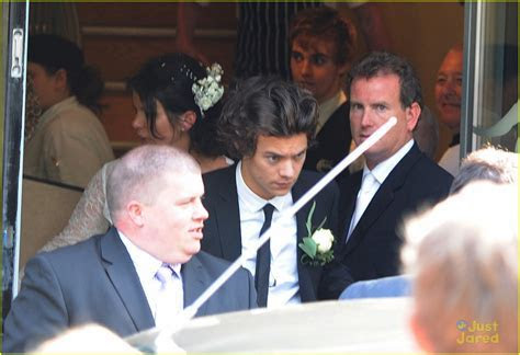 Harry Styles: Best Man at his Mom's Wedding!   Photo