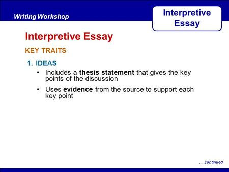 how to write a thesis statement for an interpretive essay