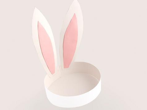 chapeuzinho de coelho pascoa Lembrancinha de rosa de papel para dia das mães