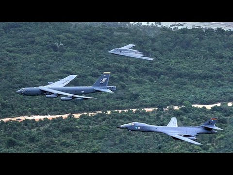 B-1, B-2, B-52 Fly Together In A Massive Show Of Force – conducted operations in the South China Sea