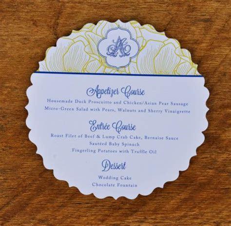 Fancy Circle Wedding Menu   Wiregrass Weddings