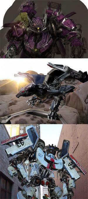 Shockwave, Laserbeak and Wheeljack.