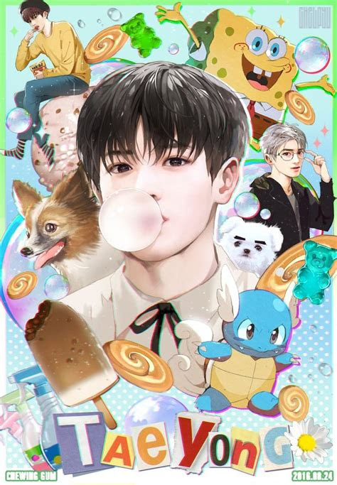 taeyong   chewing gum aesthetic nct art fan art