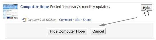 Hide Facebook users, games, polls, etc.