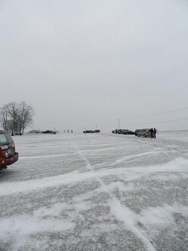 cold parking lot