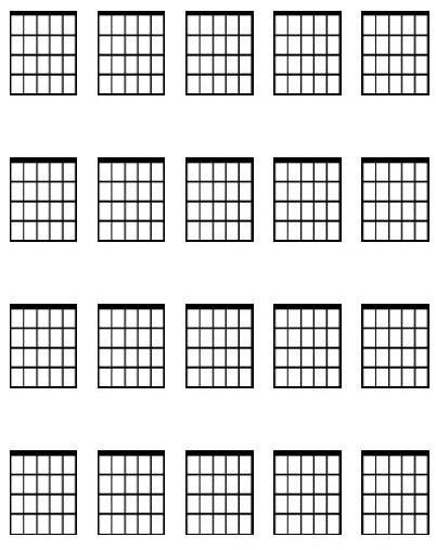Large guitar chord diagram sheet - Dave Lockwood Guitar Studio