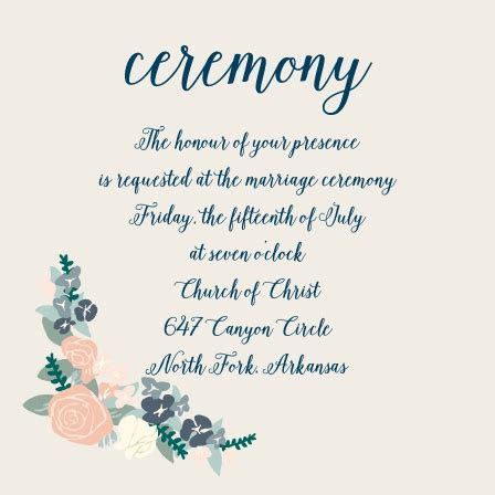 Wedding Reception Cards and Wedding Ceremony Cards by